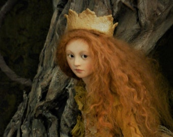 """Anna BRAHMS One of a Kind Sculpture ART DOLL """"Princess in Gold"""""""