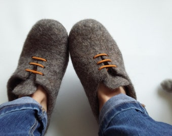 Natural Wool Felted Slippers For House Ladies Bedroom Slippers Cozy House Shoes Boots woollen house shoes Socks Slippers