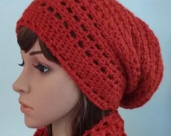 Sombrero del Knit e infinito conjunto de bufanda de ganchillo 7e7a515df49