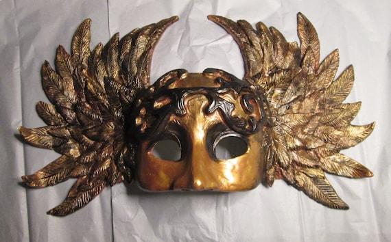 Warrior mask Goddess Mythological winged mask custom made costume mask archangel Valhalla masked ball Valkyrie Masquerade mask