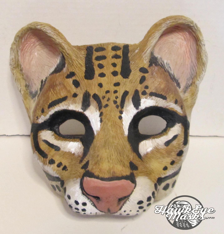 Ocelot Cat Mask Jungle Cat Mask Animal Costume Mask
