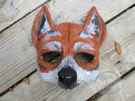 WOLF COYOTE DOG DINGO FOX MASK-PET PUPPY ANIMAL-HALLOWEEN-DRESS UP-COSTUME-PARTY