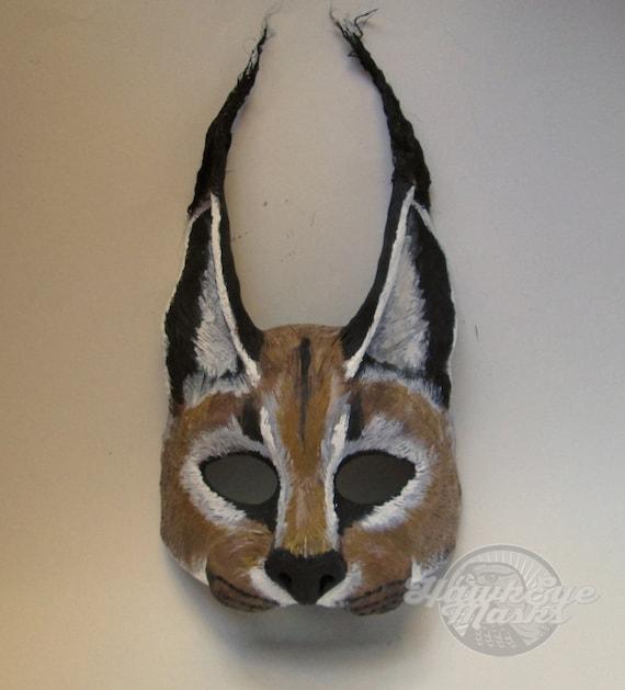 wild lynx Animal mask wild cat Wildcat mask Lynx Neko custom made masquerade mask bobcat mask,