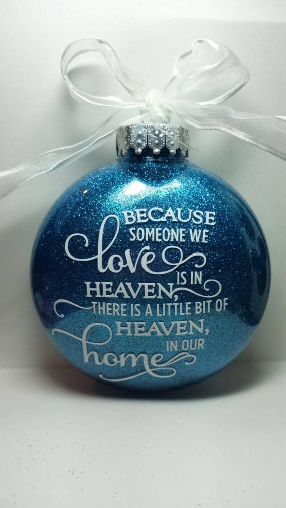 image 0 - Sentimental Personalized Holiday Ornament. Custom Heaven Love Etsy