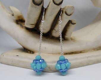 Mom gift, gift for her, swarovski, crystal beads, beaded beads, earrings for baby girl, earrings for girl