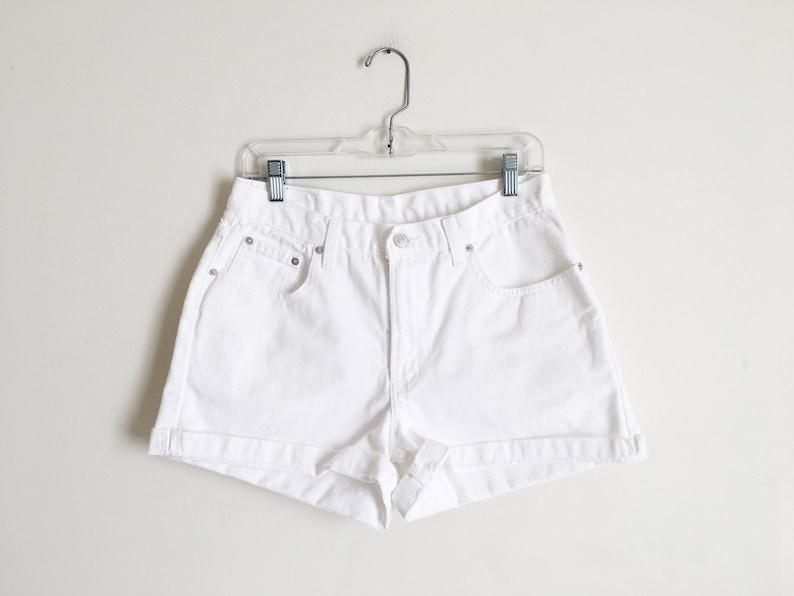 e1765f937d White Jean Shorts Vintage 90s White Denim Shorts High Rise | Etsy