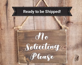 Ready to Ship. No Soliciting Wood Sign. Soliciting sign, solicitors sign, rustic soliciting sign, solicitors wood sign, no soliciting wooden