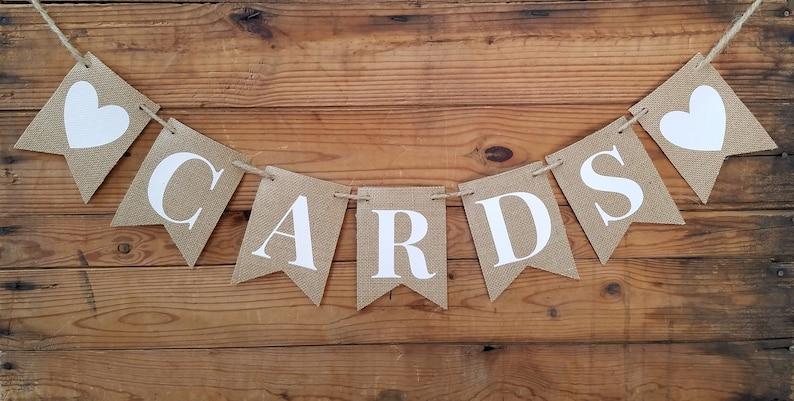 cards banner rustic banner burlap banner burlap wedding decor gift table banner Rustic Burlap Cards Banner rustic wedding banner