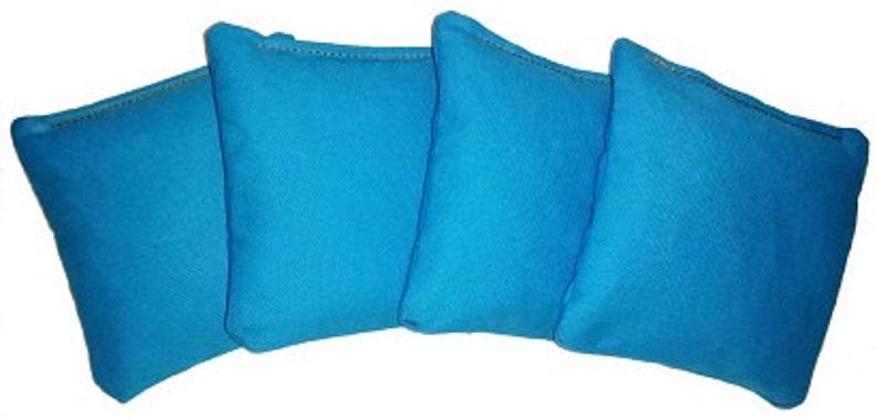 Turquoise Regulation Cornhole Bags Guarantee No Break 100/% Satisfaction Guarantee 4 Bags ACA Double Stitched Money Back Great Feedback