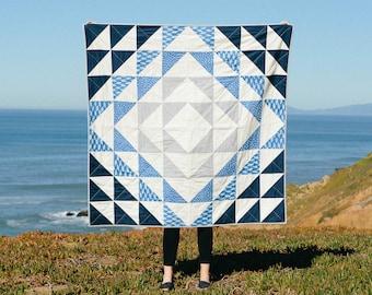 Atlantic Quilt Pattern + Tutorial PDF