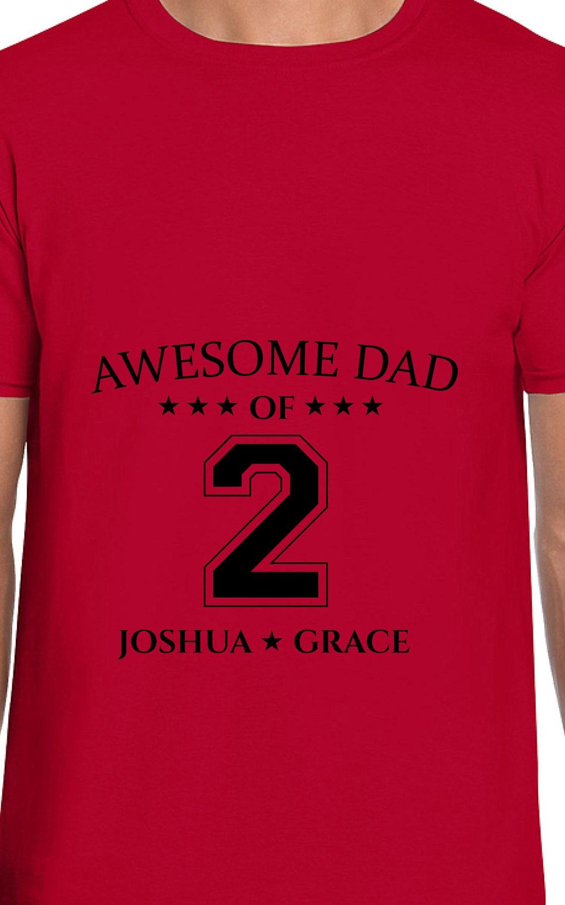 Quality Custom T Shirts Awesome Dad Of Mens Ladies Womens Etsy