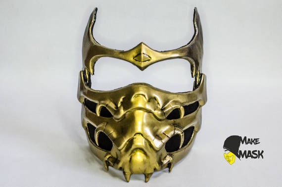 Mortal Kombat Scorpion Mask For Cosplay Color Leds Etsy