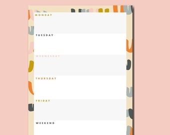 Daily Planner Pad   Abstract Rainbow Planner Notepad   To-Do list   Teachers Gift   Productivity pad   Everyday planne