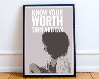Know Your Worth African American Art