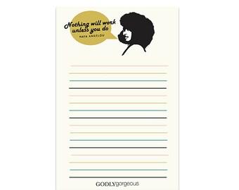 Maya Angelou Notepad