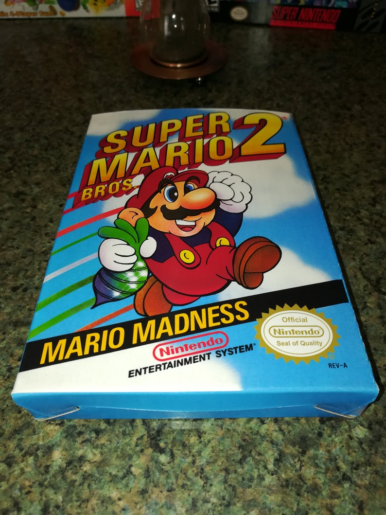 Super Mario Bros  2 NES Nintendo Entertainment System Reproduction Box!  Best Repros in the world!