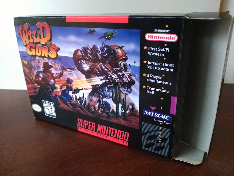 Wild Guns Super Nintendo SNES Reproduction Box! Best Repros in the world!