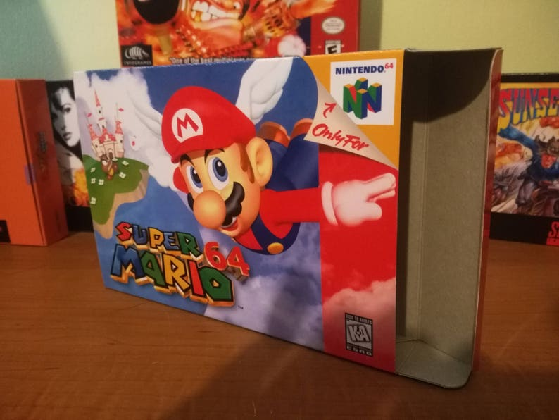 Super Mario 64 Nintendo 64 N64 Reproduction Box! Best Repros in the world!