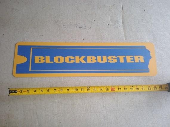 """BLOCKBUSTER Aluminum Display Sign  6/"""" x 24/"""""""