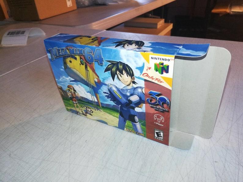 Mega Man 64 Custom Nintendo 64 N64 Reproduction Box! Best Repros in the  world!