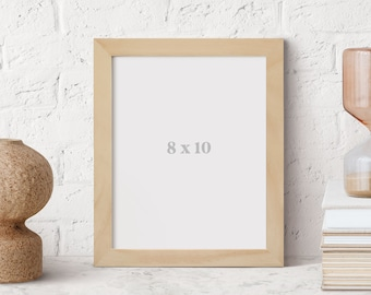 8x10 Picture Frame, Solid Wood Frame, Photo Frame, Nursery Wall Decor, Modern Rustic, Gallery wall, Frame with glass, Housewarming gift