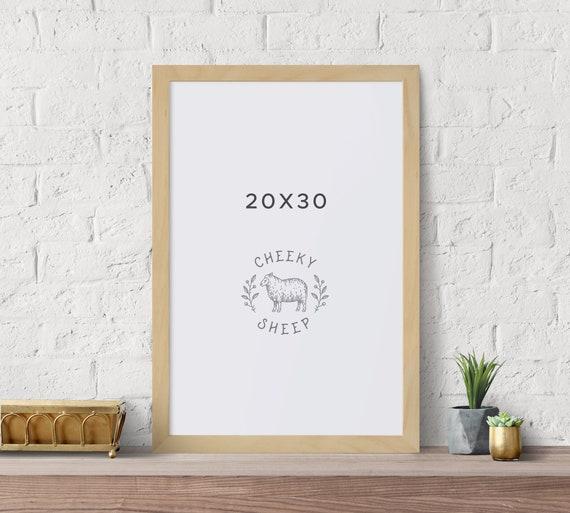 20x30 Poster Frame No Glass Natural Wood Poster Frame Art Etsy