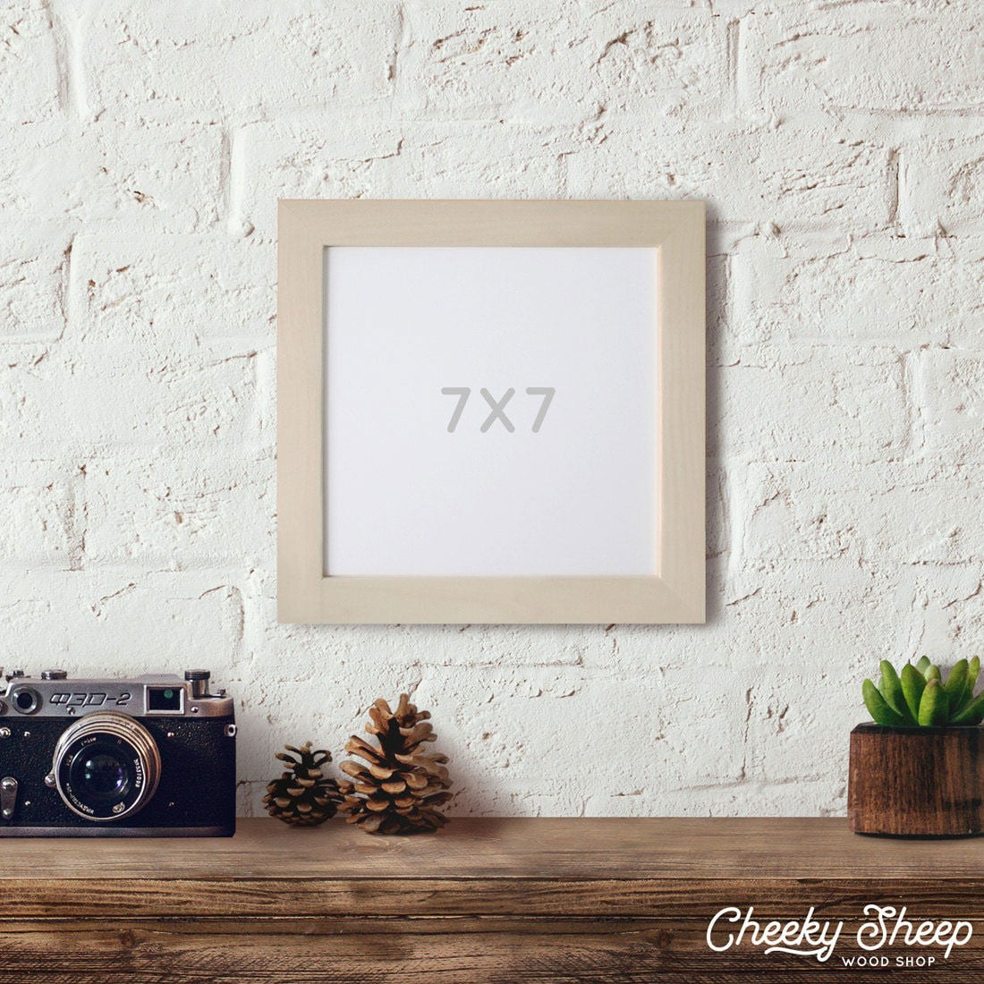 7x7 Picture frame, Natural Wood frames, Wedding Table Display ...