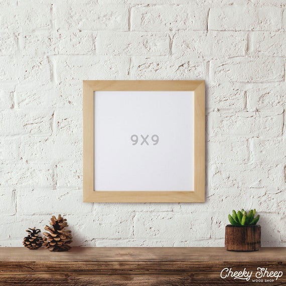 9x9 Picture Frame Cross Stitch Frame Square Picture Frame Art Etsy