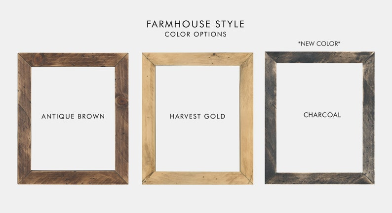 Farmhouse 18x24 Poster Frame No Glass 18 X 24 Wood Frame Etsy