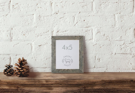 Barn Wood Style Wood Frame 4x5 Picture Frame Rustic Wedding