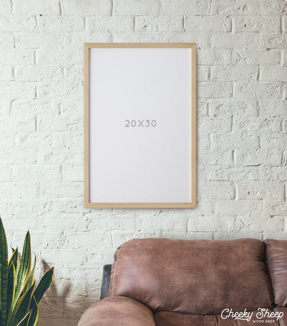 20x30 Poster Frame No Glass Natural Wood Poster Frame Art Etsy