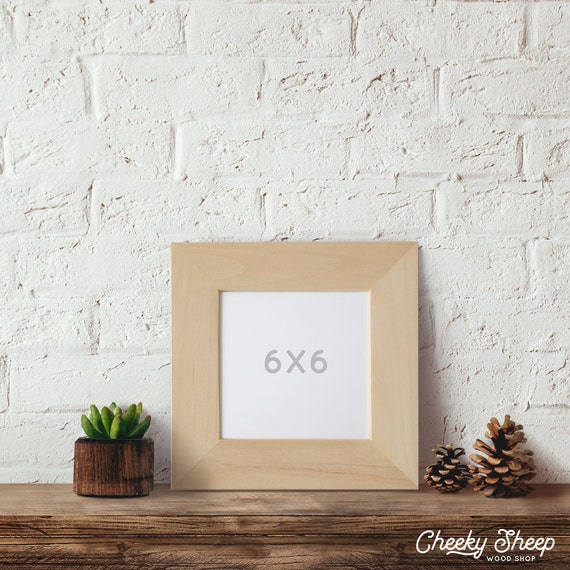 6x6x2 Wide Face Picture Frame 6x6 Picture Frame Etsy