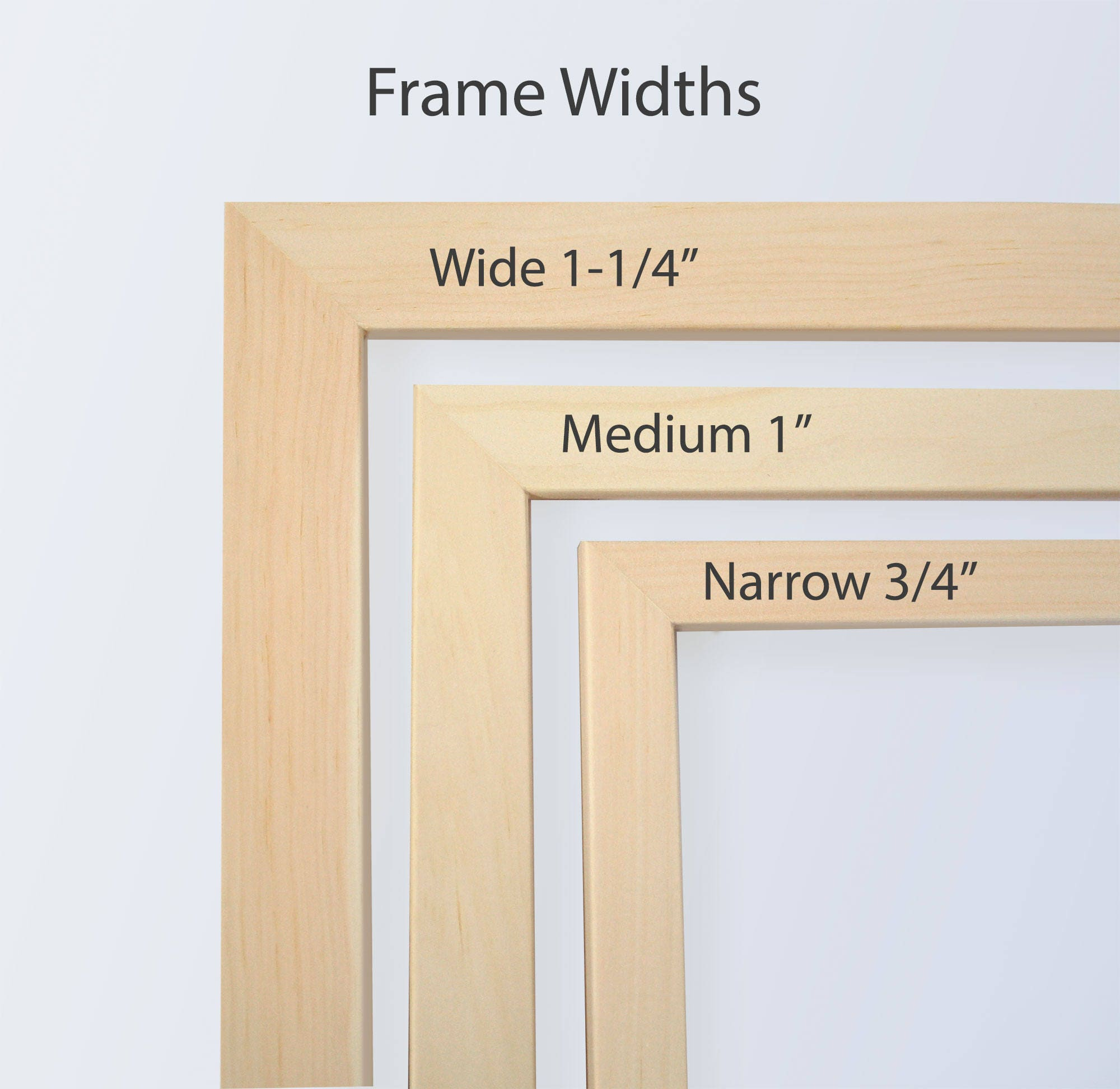 4x8 Picture Frame, Natural Wood frame, Art frames, Craft frame ...