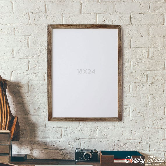 Farmhouse 18x24 POSTER Frame NO GLASS 18 x 24 Wood Frame | Etsy