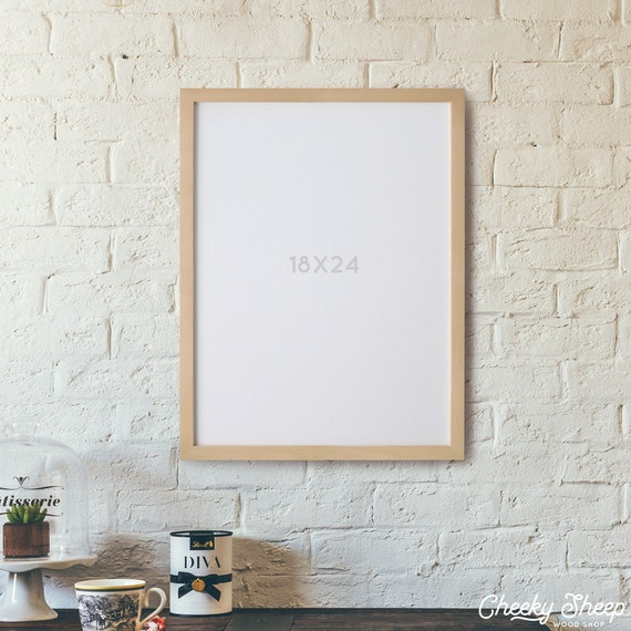 18x24 POSTER Frame *NO GLASS* 18 x 24 Unfinished Wood Poster Frame ...