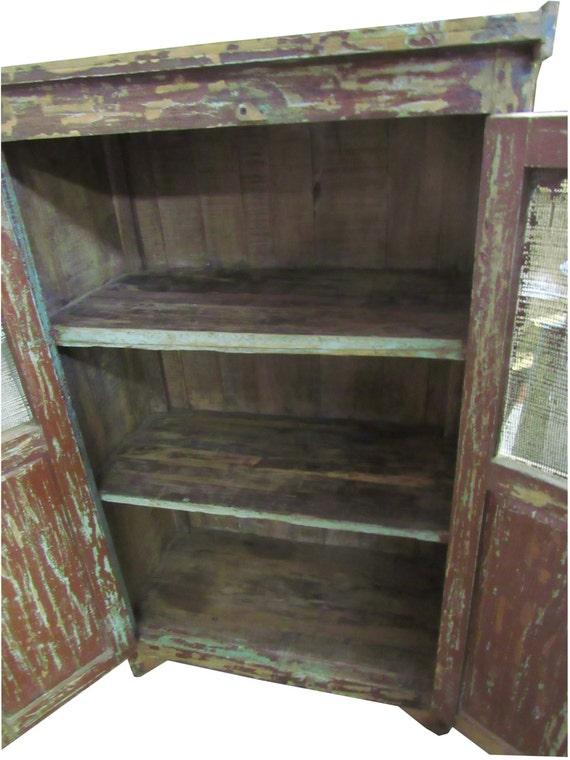 Pastel rústico gabinete primitivo gabinete rústico seguro armario rústico Shabby Cottage gabinete gabinete de la cocina casa del lago gabinete antiguo