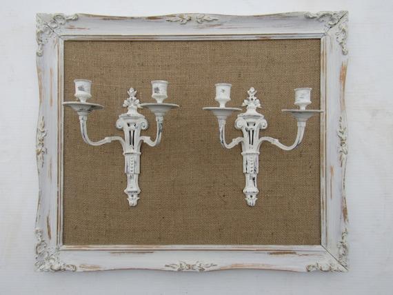 Vintage con cornice sconces francese francese candela applique etsy