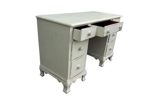 Ferme peint bureau vintage dérable vieilli bureau cottage etsy