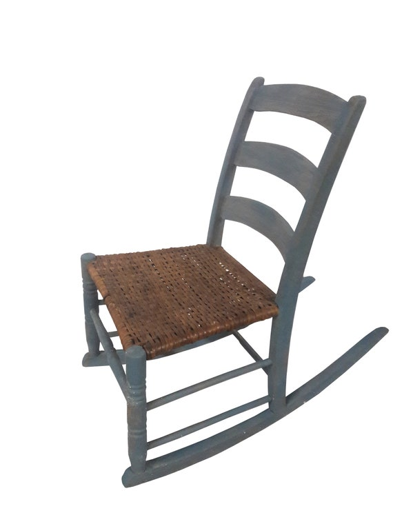 Awesome Rustic Framhouse Rocking Chair Childs Hudson Valley Woven Seat Rocking Chair Antique Cottage Rocking Chair Onthecornerstone Fun Painted Chair Ideas Images Onthecornerstoneorg