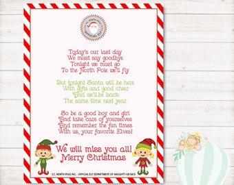 instant download elf christmas letters printable elf letter elf arrival letter personalized letter from elf goodbye letter printable