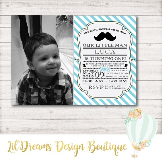 little man birthday invitation lil man mustache bow tie etsy