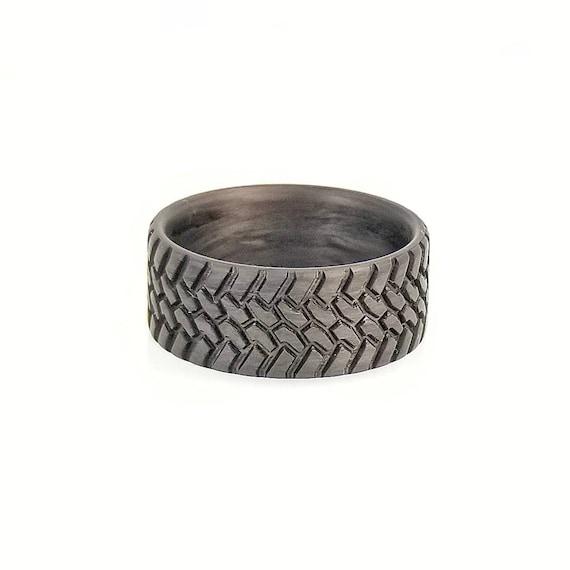 4x4 Ring Titanium Tread Ring Truck Guy Wedding Ring Titanium Wedding Band Interco Swamper TSL Tough ring Off Road