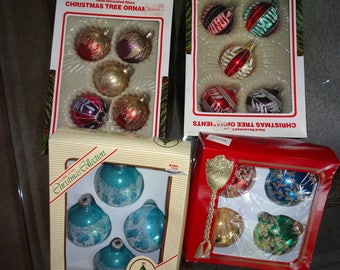 vintage glass christmas ornaments european made sold from woolworth store - Vintage Glass Christmas Ornaments