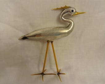 Art Glass Victorian Crane from Germany