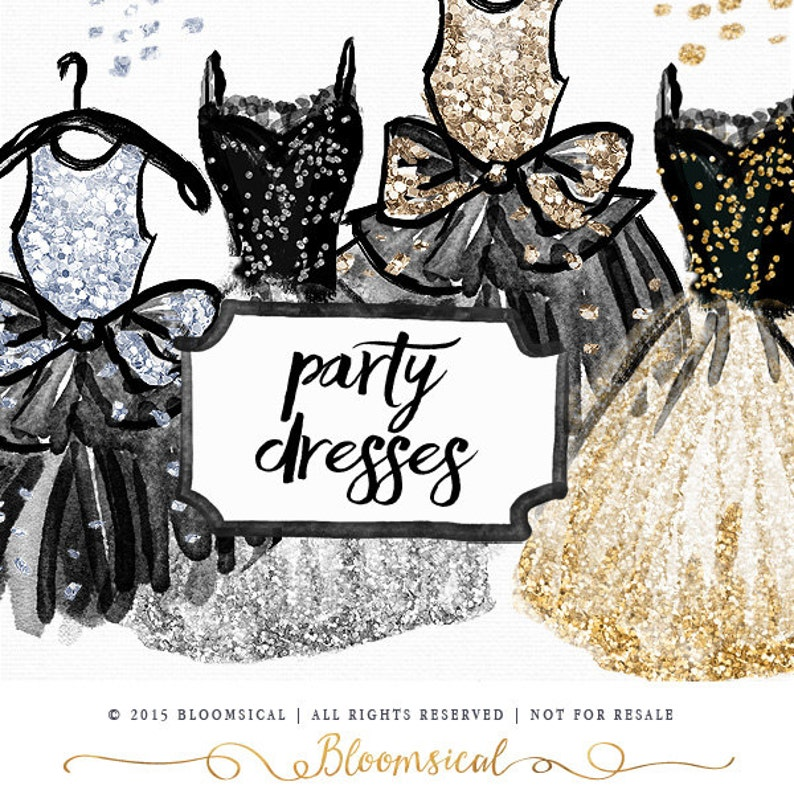 Silver Party Dress Clip Art