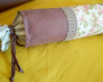 Linen Pillow, Bolster cushion - Custom color