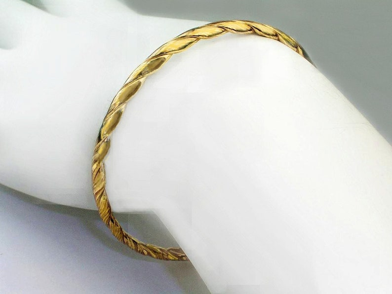 4ba18bf3e4e One Pair Girls - Boys Gold Bangles / Genuine 1/20 -14k gold filled / 2 inch  Diameter / Two different designs / One Pair Girls bangles