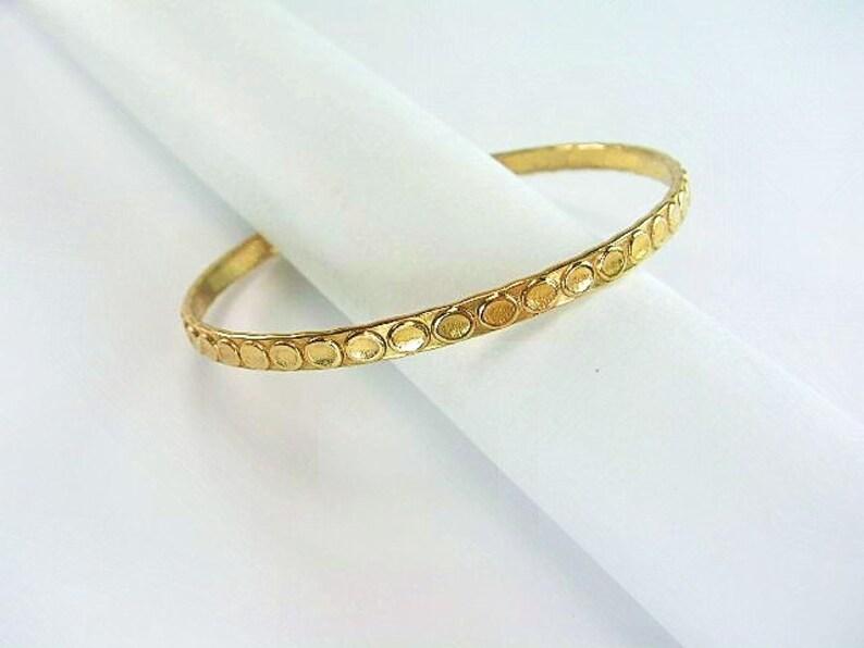 40f17cb2fef Baby Girl /Boy Gold Bangle / Genuine 1/20 -14k gold filled / Unique design/  slip-on bangle/ 1.75 inch dmtr. / Baby girl's / Boys gold bangle