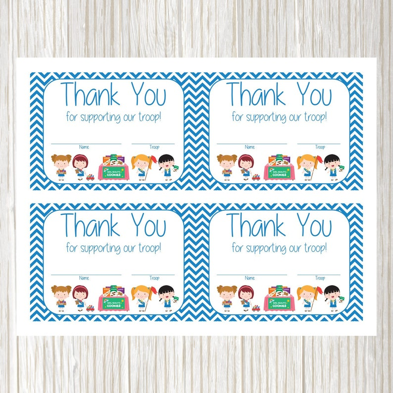 graphic relating to Girl Scout Cookie Thank You Note Printable titled Woman Scout Cookie Product sales Thank Oneself Playing cards, Lady Scout, Thank by yourself playing cards, Thank on your own Notes, Daisy, Printable - Electronic Down load