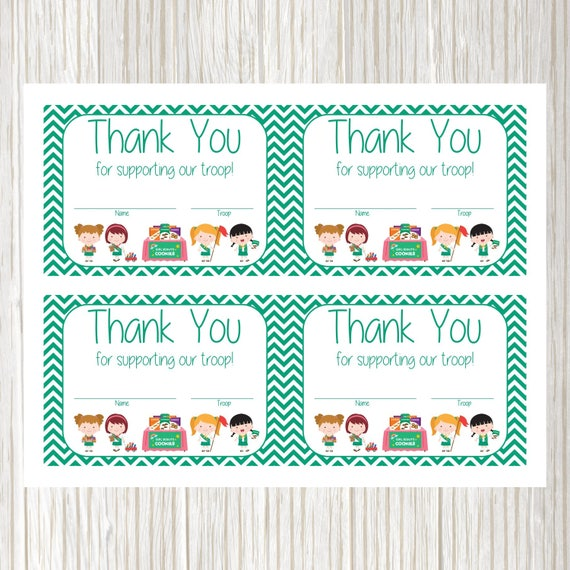 Zany image pertaining to girl scout cookie thank you notes printable